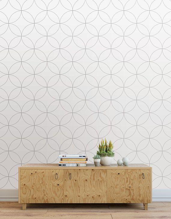 Relier Les Feuilles Peler Et Coller Des Carreaux De Papier Peint Panneaux De Papier Peint Moderne Classique Gris Clair Wallpaper Panels Wallpaper And Tiles Modern Wallpaper