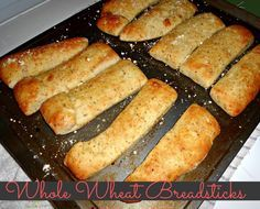 Whole Wheat Breadsticks- super yummy and require no rise time!