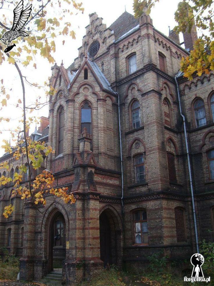 Mokrzeszów, abandoned neo-gothic hospital