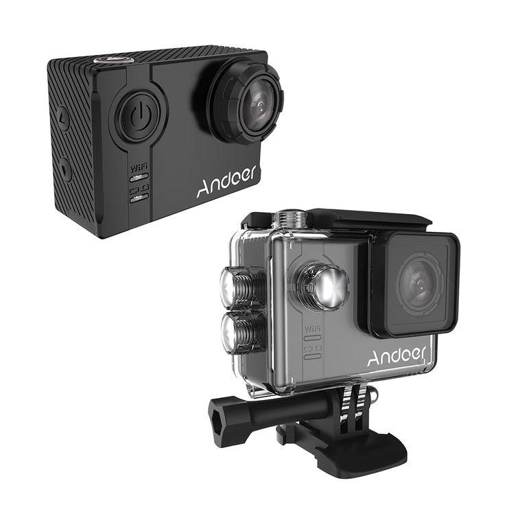 Andoer AN7000 Full HD 16MP WiFi Anti-shake Waterproof Diving Sales Online black - Tomtop.com
