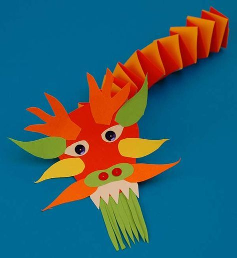 Chinese New Year. How art is used in cultural celebrations. 2nd grade. paper sculpture