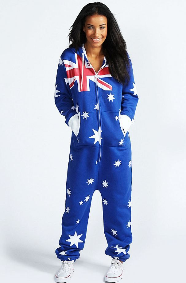 Australian Flag Onesie Adult $45 #Aussie #FashionAu