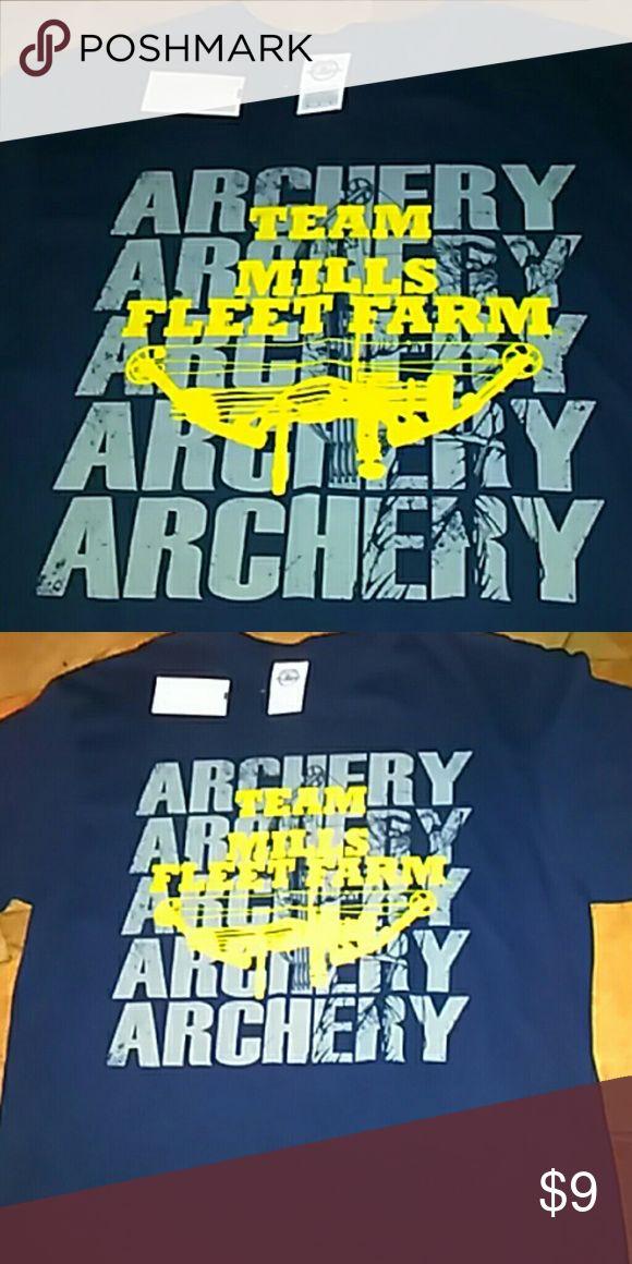 NWT Mens Archery Tshirt   medium NWT Men's Medium Dark blue T-shirt. Team Mills Fleet Farm . Archery .  size medium Delta Tops Tees - Short Sleeve