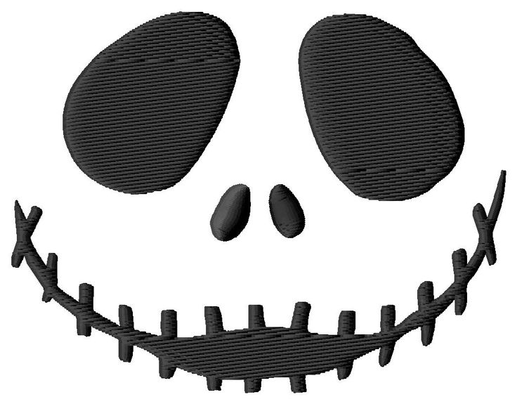 Nightmare Before Christmas Jack Face #2 Embroidery Designs (3 Si: Single Designs - - Kewl Stitches