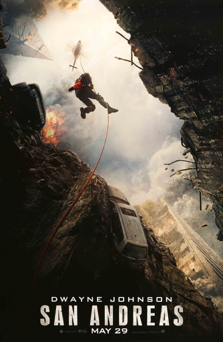 """Film: San Andreas (2015) Year poster printed: 2015 Country: USA Size: 27""""x 40"""" This is an original, teaser one-sheet movie poster from 2015 for San Andreas starring Dwayne Johnson, Carla Gugino, Alexa"""