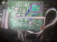 electronics repair made easy: LG Television NO PICTURE- AUDIO OK blue background...