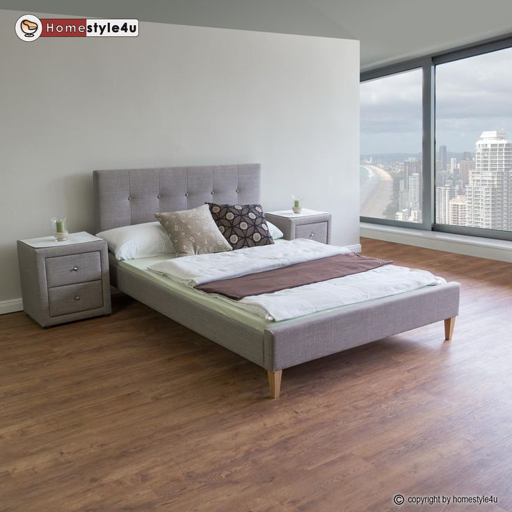 Polsterbett-Doppelbett-Stoffbett-Bettgestell-Lattenrost-140-160-180-cm