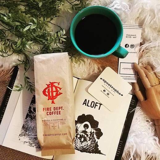 Apostrophe Box: January's Horror/Thriller box featured Joe Hill's Strange Weather & Fire Dept. Coffee [photo cred: K. Novitzke]