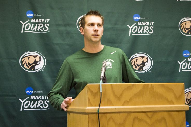 BSU Head Soccer Coach Jim Stone announces the 2016 @BSUBeaversoccer singing class Wednesday at a press conference.