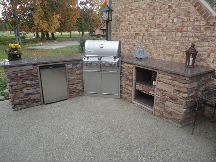 Outdoor kitchen ideas from m rock outdoor spaces for Outdoor kitchen ideas pinterest