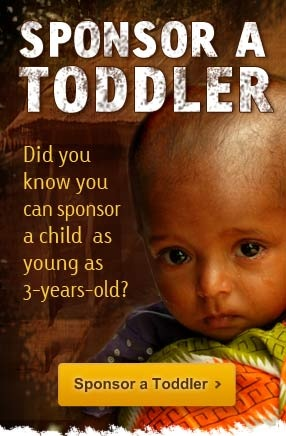Did you know you can sponsor a child as young as 3-years-old?