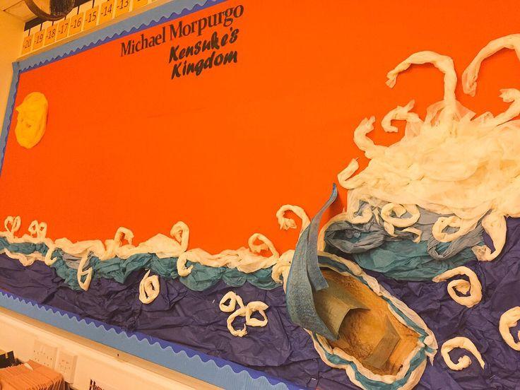 Michael Morpurgo's Kensuke's Kingdom display.