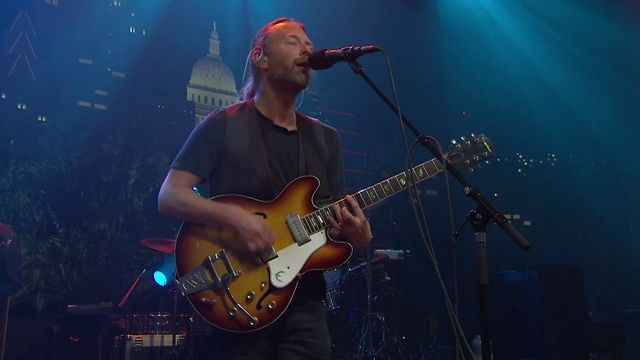 """Radiohead on Austin City Limits """"Morning Mr Magpie"""" by Austin City Limits. A full hour of Radiohead kicks off Austin City Limits' 38th season on PBS Saturday, October 6th. http://acltv.com. I CANNOT WAIT FOR THIS SHOW!!!!"""