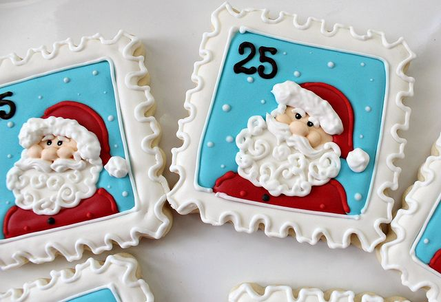 Santa Stamps Close Up by SweetSugarBelle, via Flickr