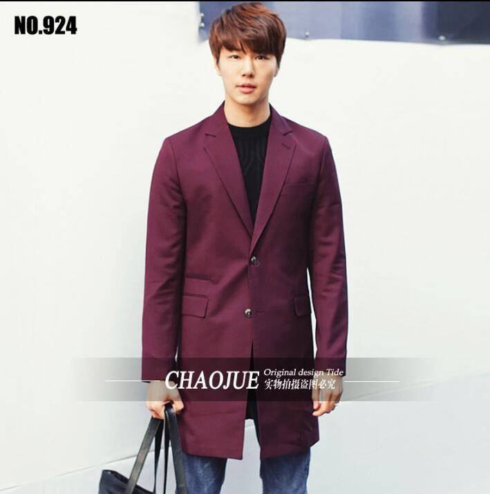 Spring fashion terno masculino long blazer men costume homme slim fit men blazer designs brand clothing mens jacket wine red