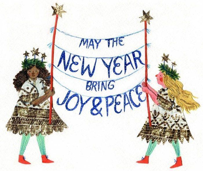Christmascard Countdown seen on HappyMakersBlog.com ~ Illustration : Phoebe Wahl