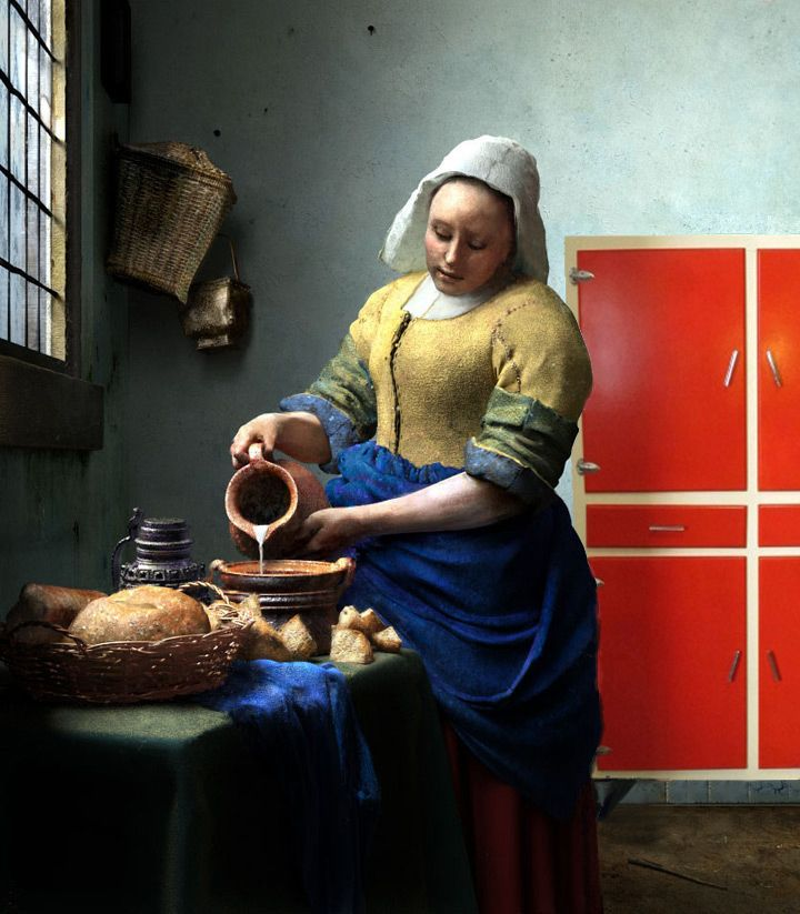 la lechera #chachi #vermer #chachiandchachi #furniturevintage #vintage #deco #art