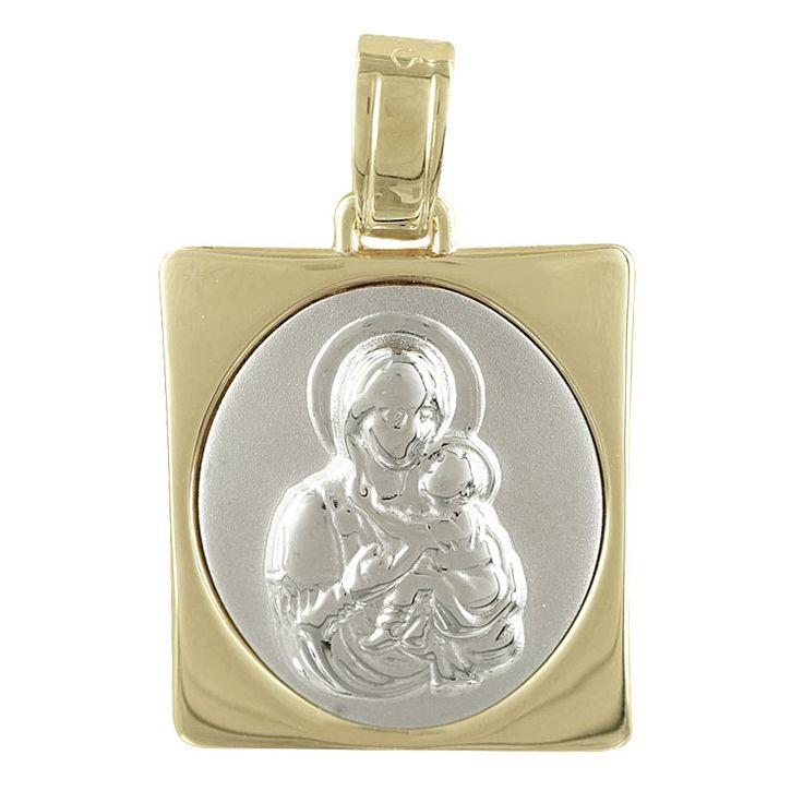 ΜΕΤΑΛΛΟ: Κίτρινος Χρυσός και Λευκόχρυσος  ΚΑΡΑΤΙΑ: 9  ΦΙΝΙΡΙΣΜΑ: Λουστρέ/Ματ  ΔΙΑΣΤΑΣΕΙΣ: 2.30*1.50 cm (με τον κρίκο)