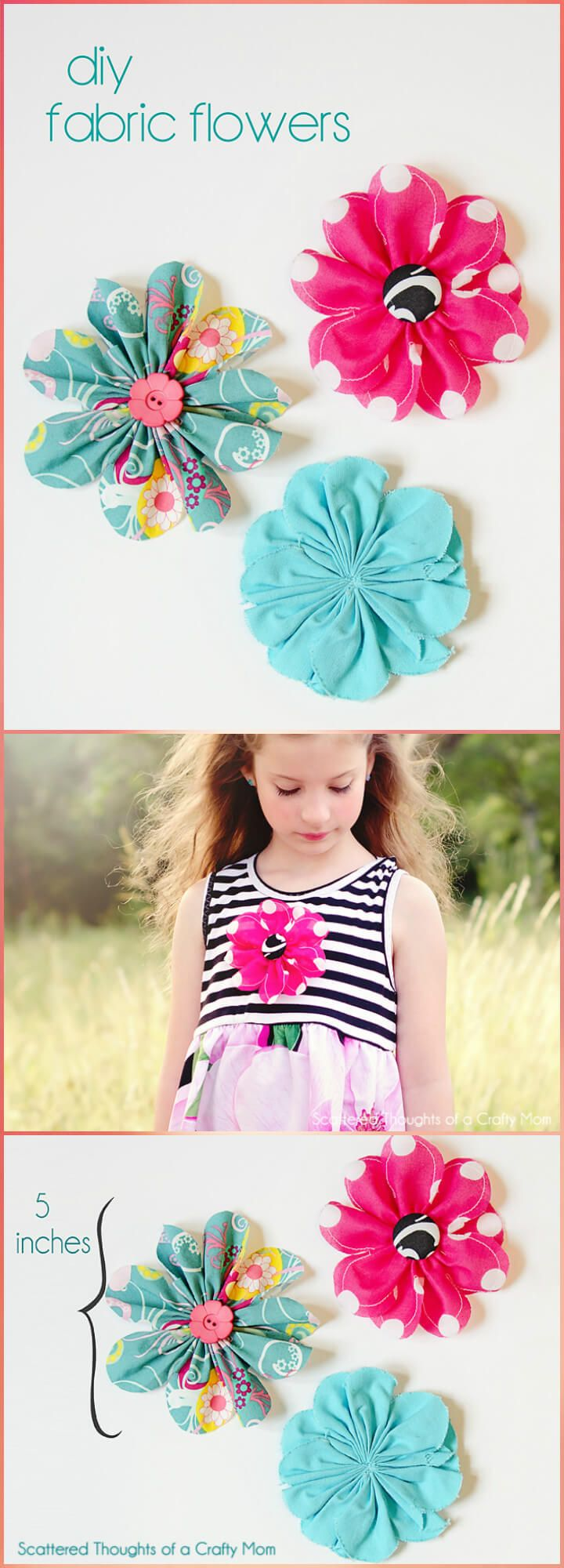 50 Easy Fabric Flowers Tutorial - Make Your Own Fabric Flowers - Page 5 of 10 - DIY & Crafts