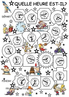 Telling time game in FRENCH: Quelle heure est-il?
