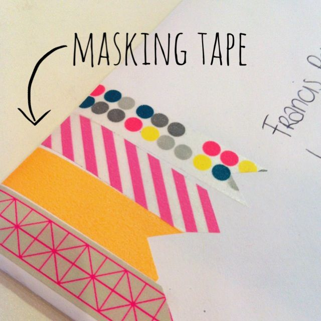 Pimp your envelop with masking tape