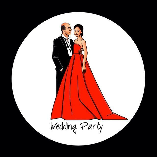 Иллюстрация, созданная для приглашения на свадебную вечеринку одной прекрасной  пары❤️ #girlsinbloom #illustration #wedding #bride #weddingparty #red #dress #fashionillustration #fashion #art_fashion #picoftheday #love #couple #любовь #иллюстрация #свадьба #москва