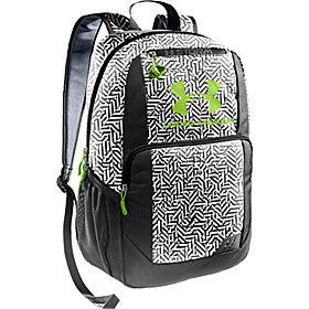 Under Armour Ozzie Backpack - Black/White/Steel/Hyper Green - via eBags.com!