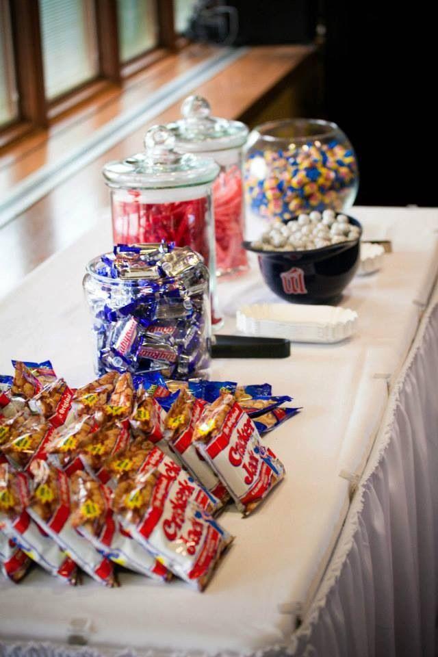 Sports wedding snack bar. #hockeywedding