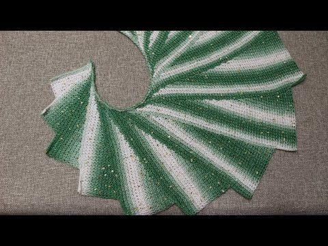 Chal Alas de Mariposa Crochet - YouTube