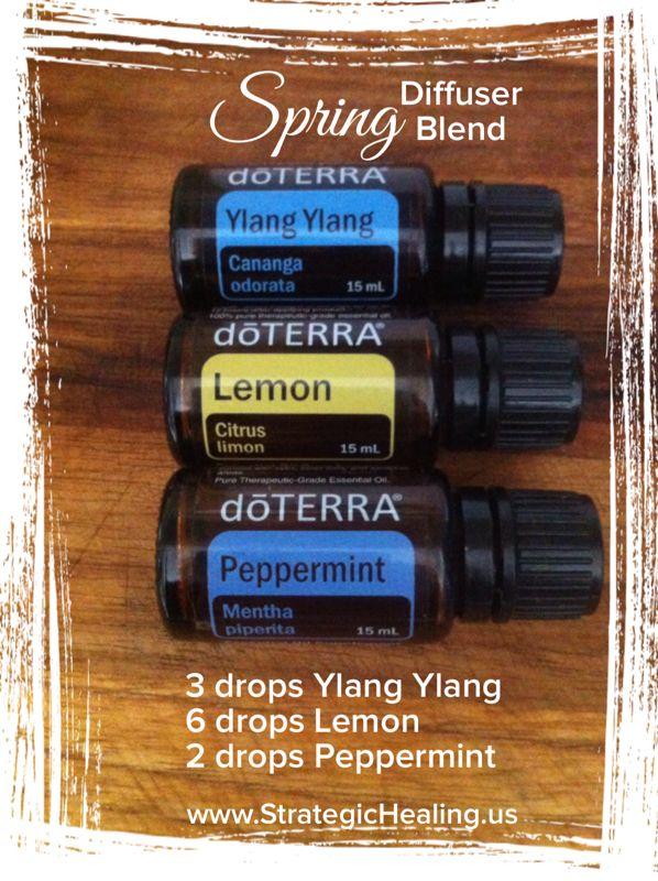 Bring Spring Inside With This Fresh doTERRA Essential Oil Blend! Ylang Ylang, Lemon, and Peppermint.