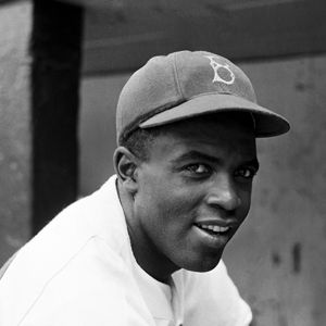 Jackie Robinson. He broke baseball's color barrier and embodied integration's promise.