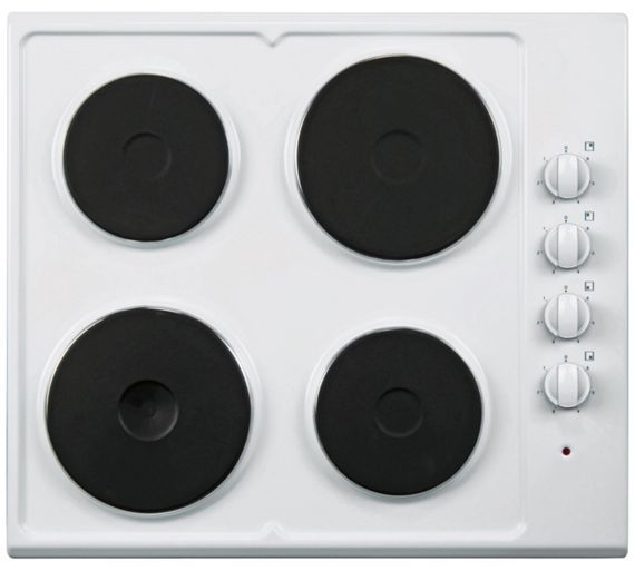 Buy Cookworks AE60W Solid Plate Electric Hob - White at Argos.co.uk, visit Argos.co.uk to shop online for Electric hobs, Cooking, Large kitchen appliances, Home and garden