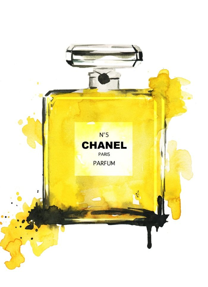 Yellow Perfume illustration - fashion illustration Art Print by Koma Art | Society6