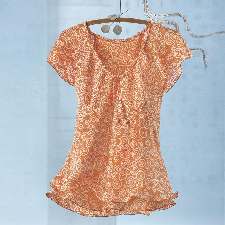 Citrus Splash Batik Top - Women's Clothing, Unique Boutique Styles & Classic Wardrobe Essentials