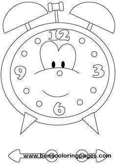 Time Clock printable coloring book