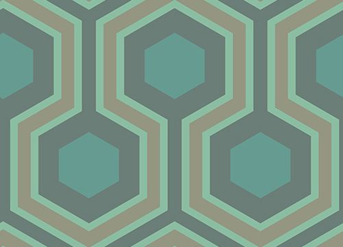 Cole & Son Contemporary Restyled Wallpaper Collection Hicks Grand in Green wallpaperdirect