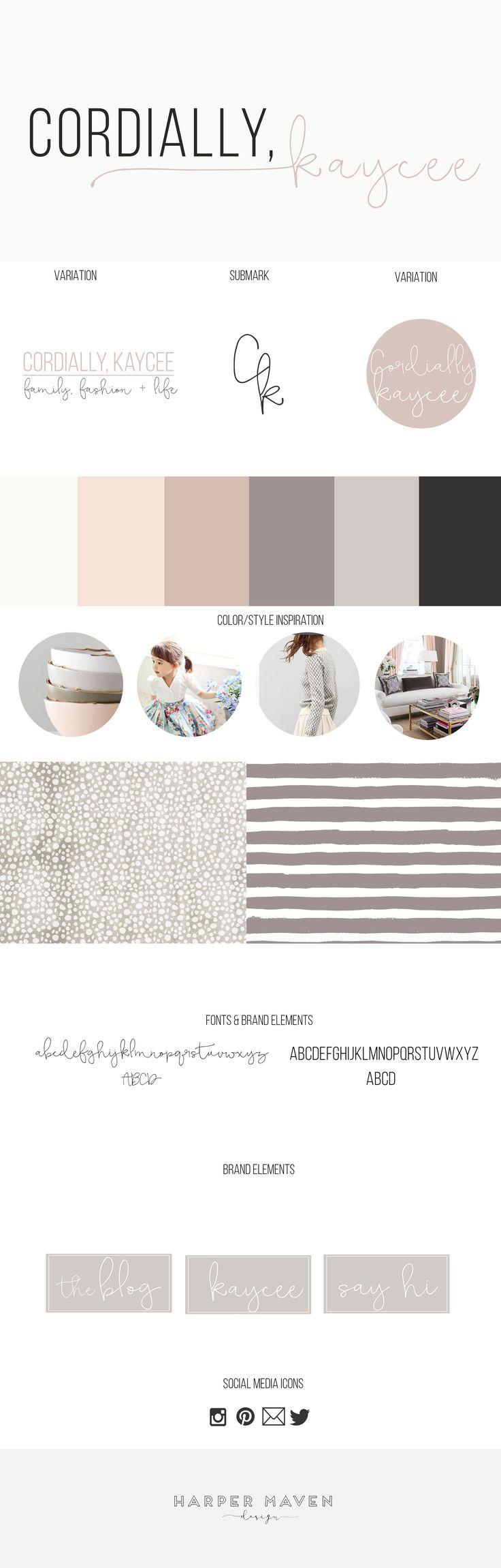 Cordially, Kaycee Brand Design by Harper Maven Design | www.harpermavendesign.com