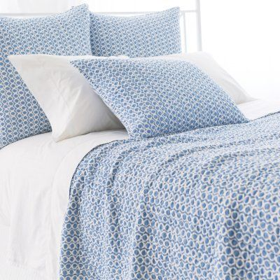 Tyler Quilted Sham by Pine Cone Hill French Blue - Q270BSS