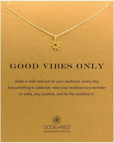 cf4d0ecdfd5229 Family Deals Necklace Good Vibes Only - Dogeared Sun Necklace - Gold or  Silver