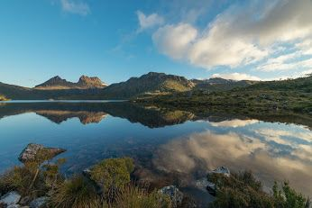 Google+ Dove Lake, Cradle Mountain, looking smooth before last night's sunset