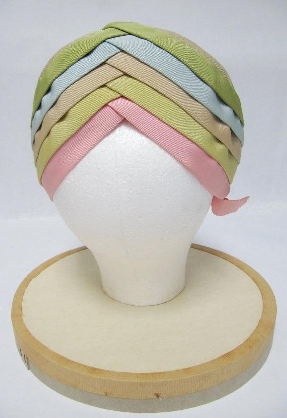 1950's Lilly Dache Young Modes Pastel Layered Turban by jamersasu, $200.00