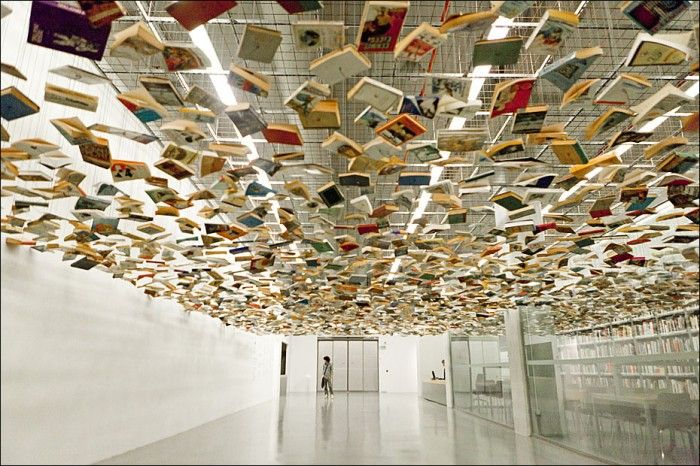 Suspended Books  www.stevenderks.com