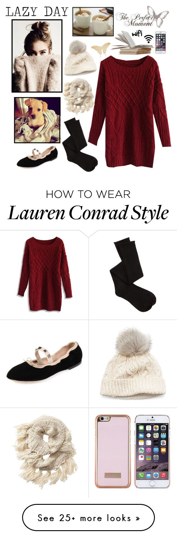 """""""Lazy Day Outfit"""" by whims-and-craze on Polyvore featuring Chicwish, SIJJL, Athleta, Charlotte Russe, Lauren Conrad, Valentino and Ted Baker"""