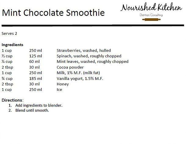 Nourished Kitchen | Mint Chocolate Smoothie