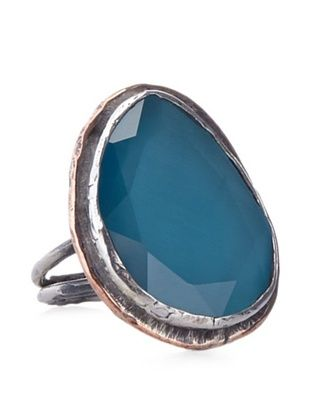 60% OFF Grand Bazaar Turquoise Cat's Eye Ring