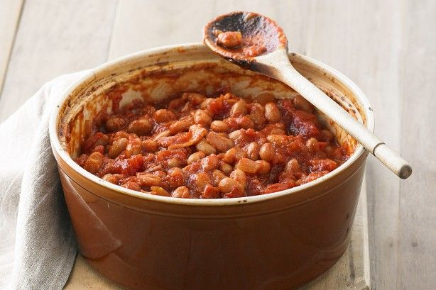 Boston baked beans are great served as a warming barbie side or with breakfast snags on the BBQ!