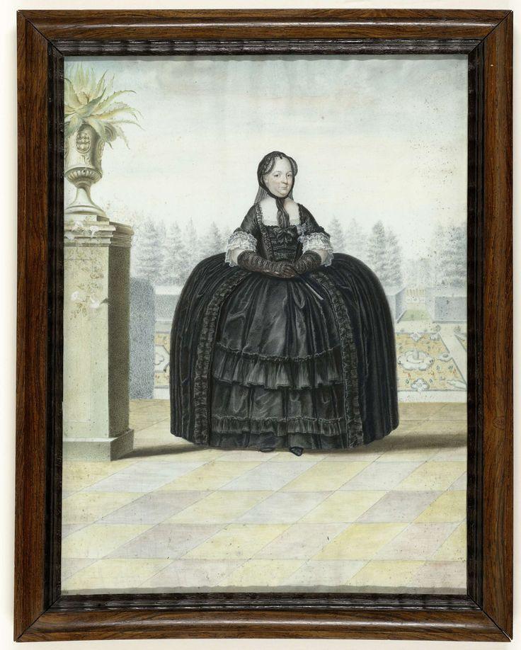 Portret van Keizerin Maria Theresia van Oostenrijk (1717-1780), Ignaz Manzador, ca. 1765 - ca. 1791