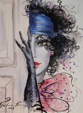 "Saatchi Art Artist Fatima Tomaeva; Painting, ""Veronica"" #art"