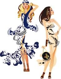 Resultado de imagen de ilustraciones de moda
