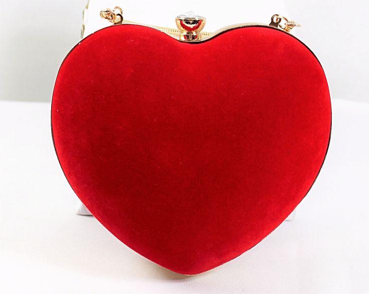 Red clutch Evening Bag